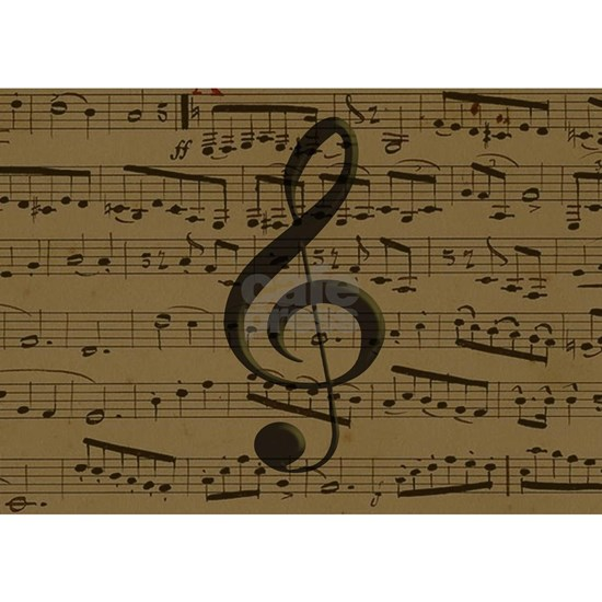 Musical Treble Clef sheet music