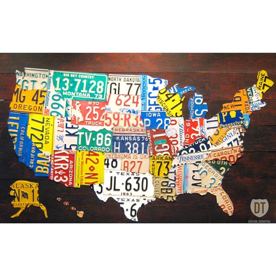 United States License Plate Map