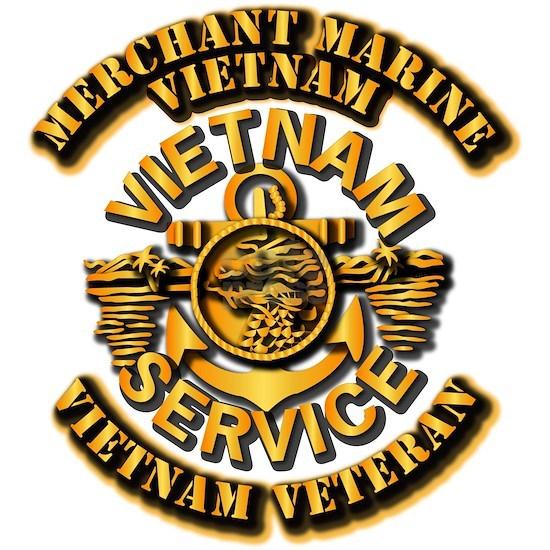 T-Shirt - USMM - Merchant Marine - Vietnam Vetera