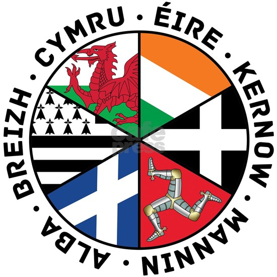Celtic Nations Flags Black