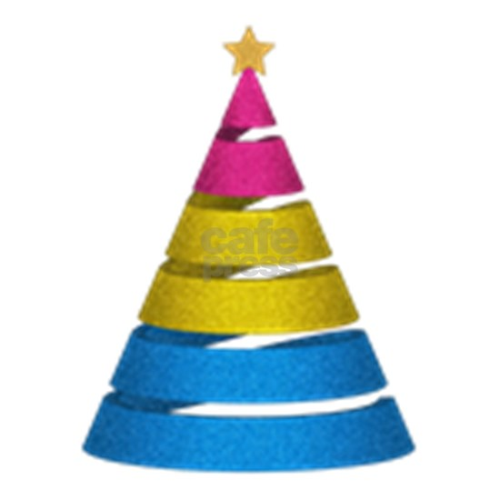 Pansexual Glitter Christmas Tree