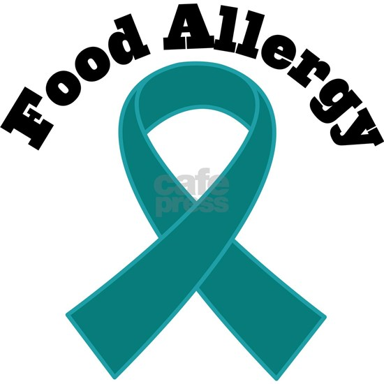Food Allergy Teal Ribbon