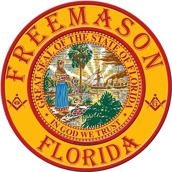 "Florida Freemasons Square Car Magnet 3"" x 3"" by That ..."