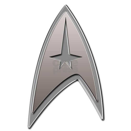STAR TREK Silver Metallic Insignia