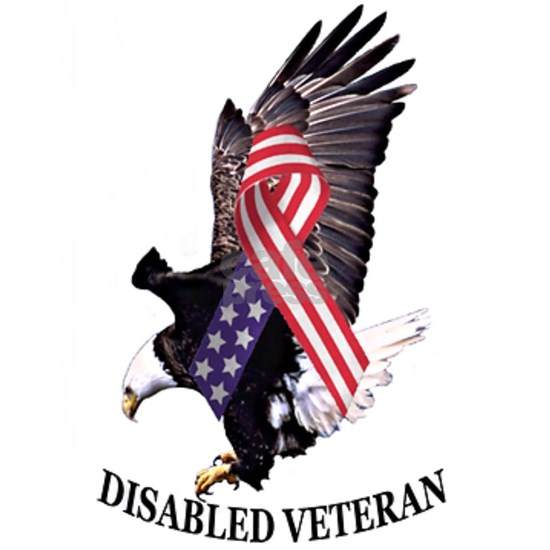 Disabled Veteran Eagle and Ribbon