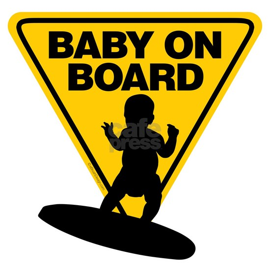 Baby On Surf Board