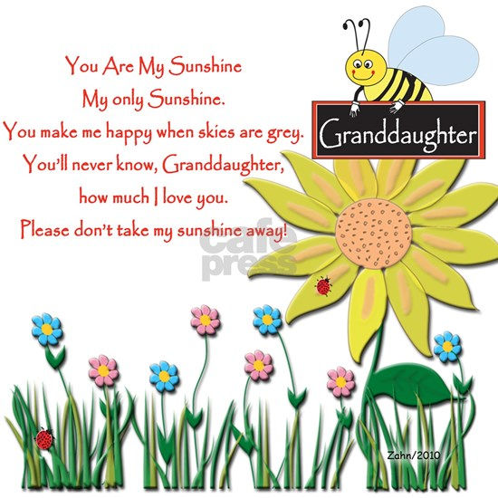 You Are My Sunshine Grandaughter