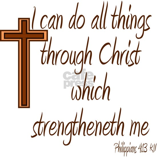 Philippians 4 13 Brown Cross