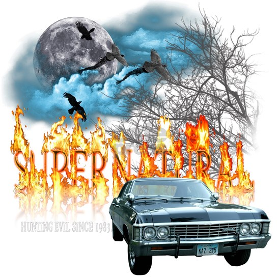 SUPERNATURAL 1967 chevrolet impala hunting evil s