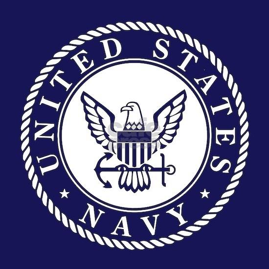 US Navy Emblem Blue White