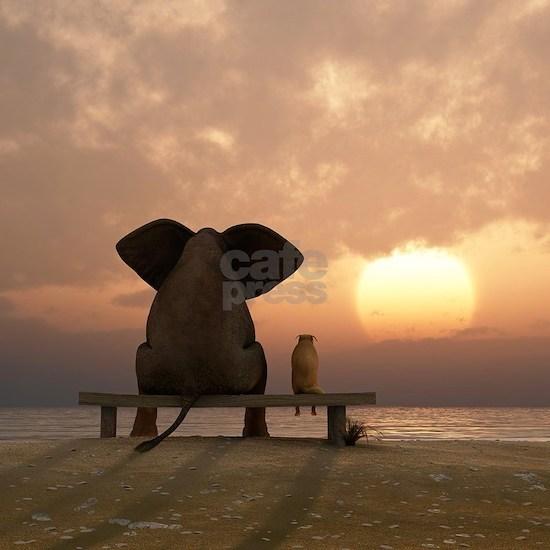 Elephant and Dog Friends