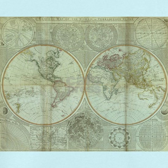Vintage Map of The World (1799) 2