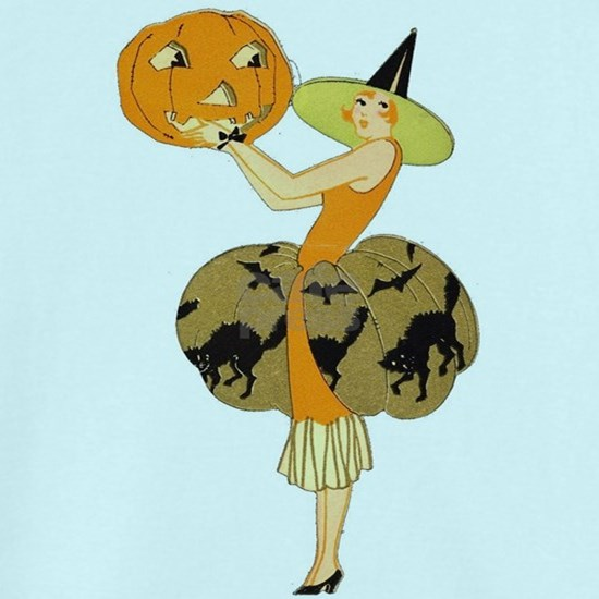 Vintage Halloween Dress with Pumpkin