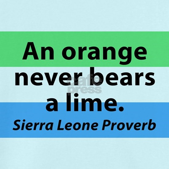 An Orange Never Bears A Lime