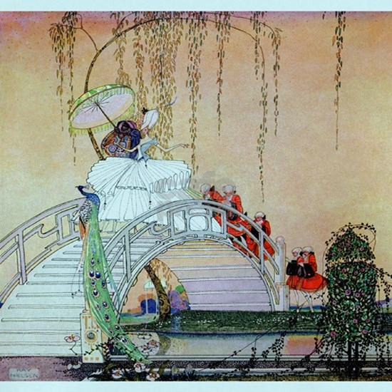 Kay Nielsen - Moon Bridge in the Chinese Garden