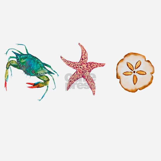 2-BLUE CRAB,STARFISH,SAND DOLLAR