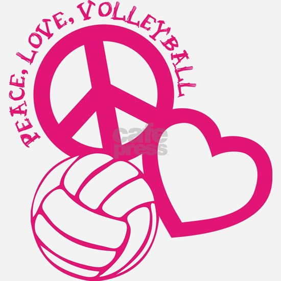 peace love volleyball, melon top, roughage