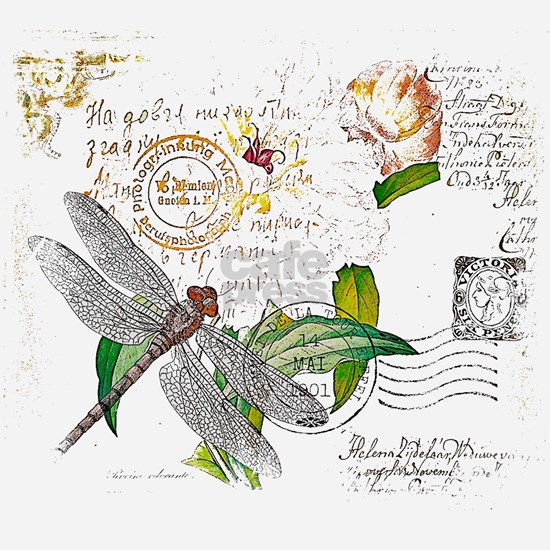 floral text and dragonfly