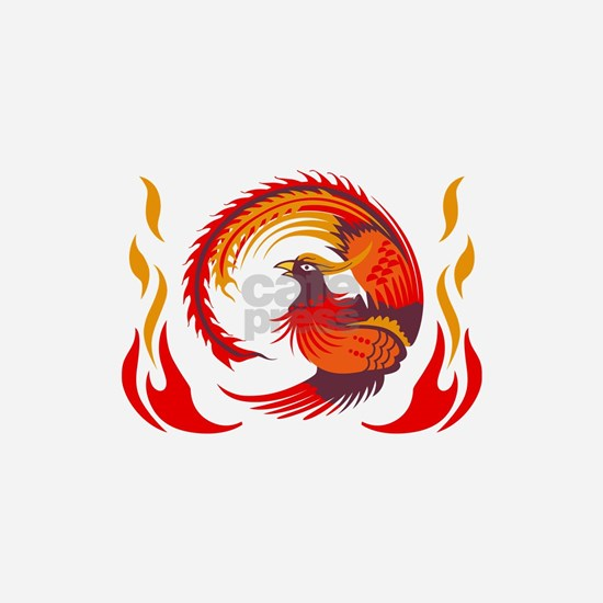 PHOENIX RISING FROM FLAMES