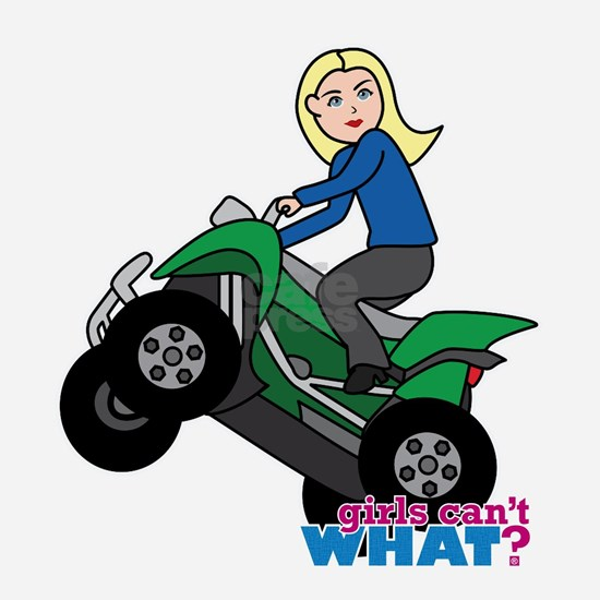 ATV girl blonde