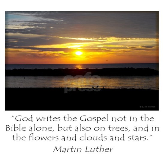 Martin Luther Nature quote