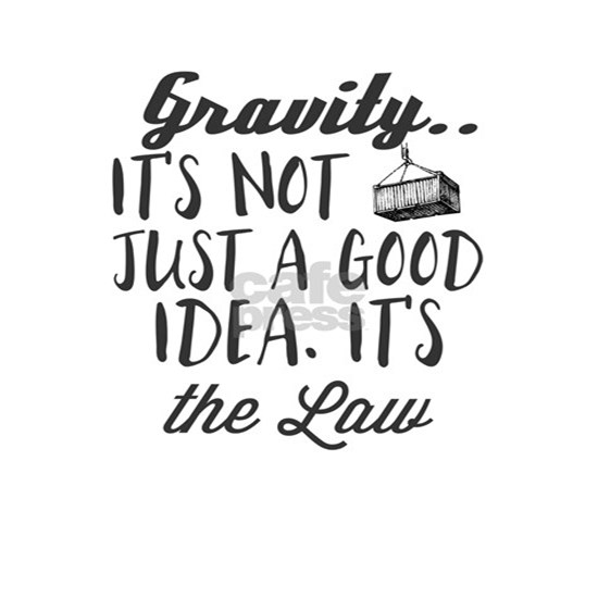 Gravity... It's Not Just a Good Idea. It's the Law