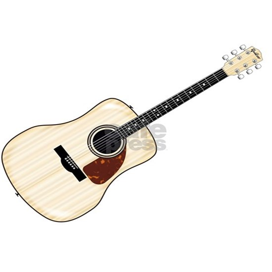 Pale Acoustic Guitar