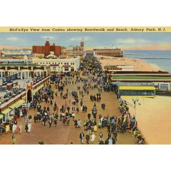 Boardwalk, Asbury Park, New Jersey Vintage