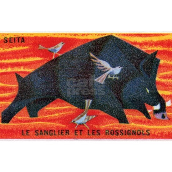 The Boar and The Nightingale Matchbox Label