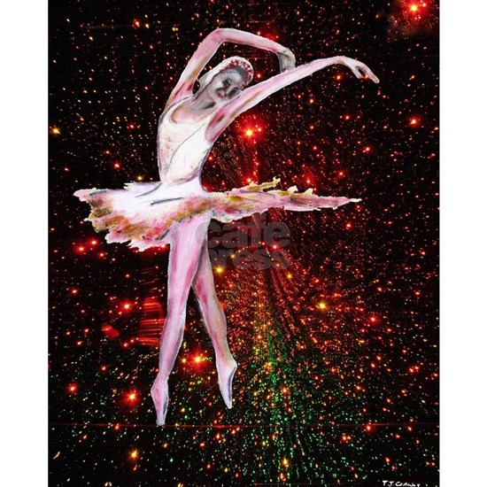 Dancer and stars, dance art