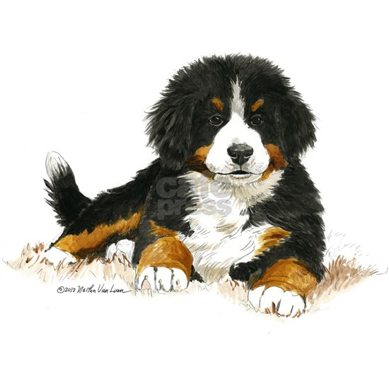 Bernese Mountain Dog Bright Eyes Picture Frame