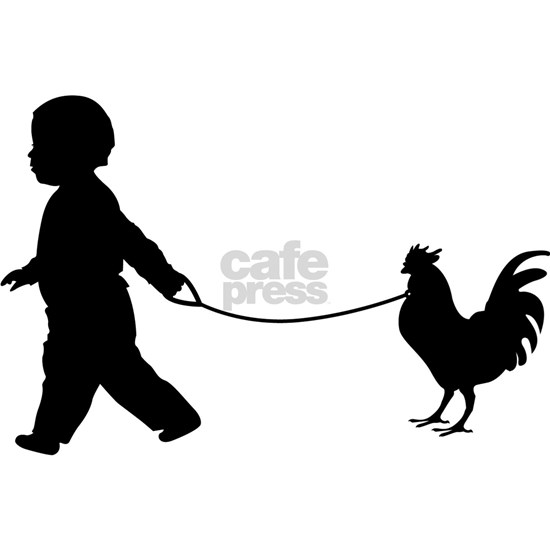 Baby and Chicken black