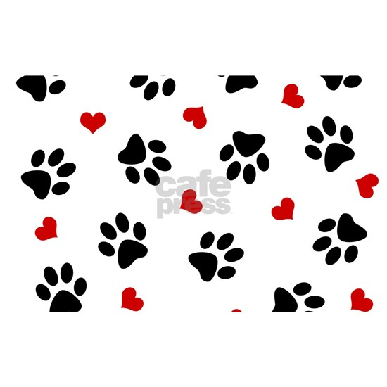 Paw Prints and Hearts