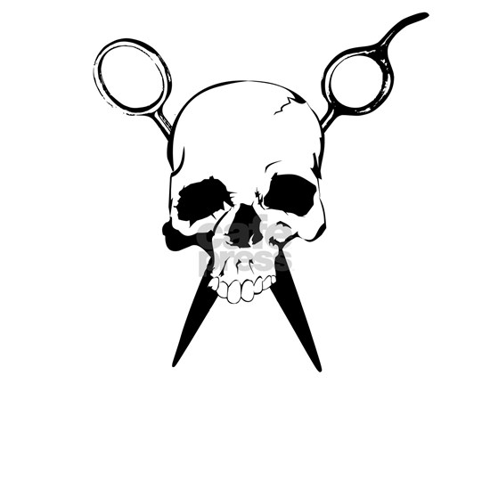 Hair Stylist Skull and Shears Crossbones