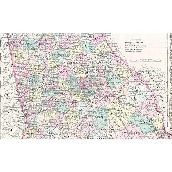 Vintage Map of Georgia (1855)
