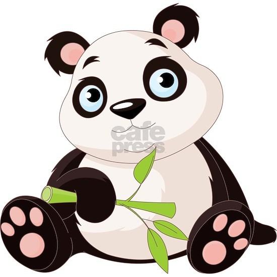 Baby Panda with Bamboo