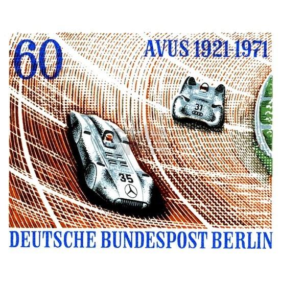 1971 Germany Avus Auto Race Postage Stamp