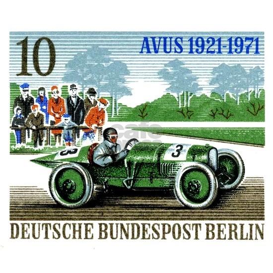 1971 West Berlin Avus Auto Race Postage Stamp