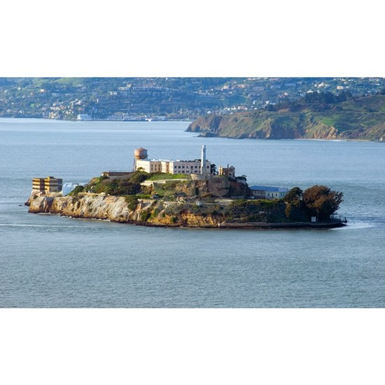 Alcatraz Island aerial view