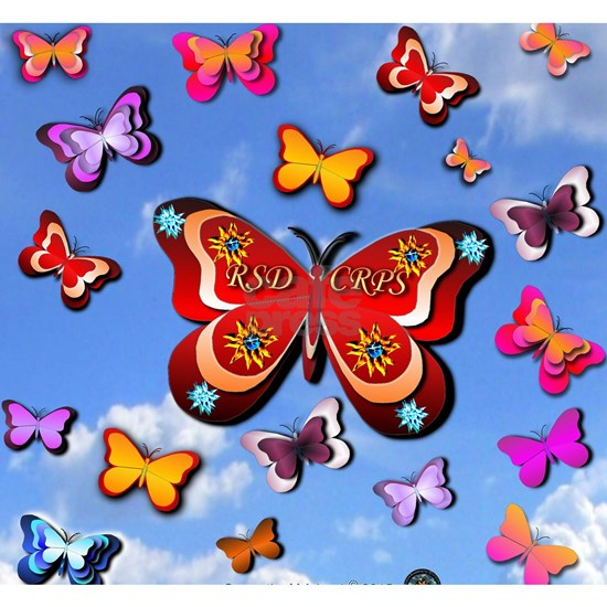 CRPS Lava Bloom Butterflies Clouds