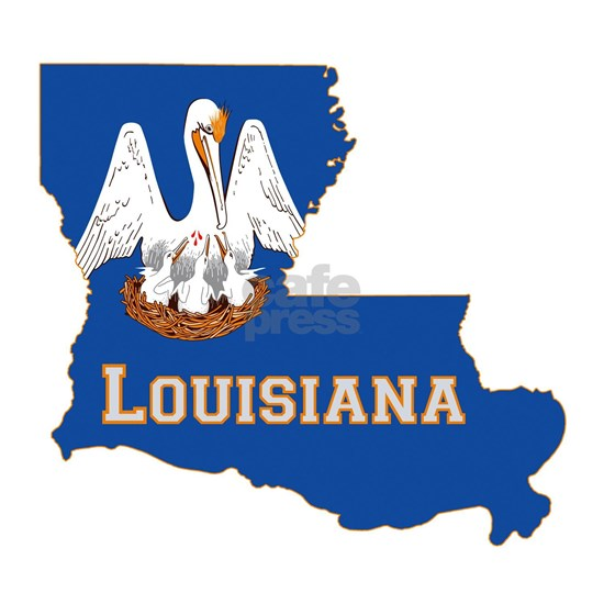 Louisiana State Flag Map