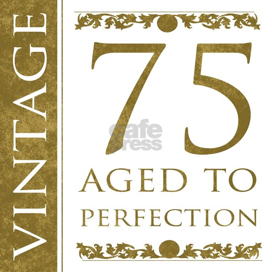 Fancy Vintage 75th Birthday