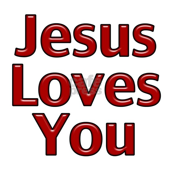 Jesus Loves you Red