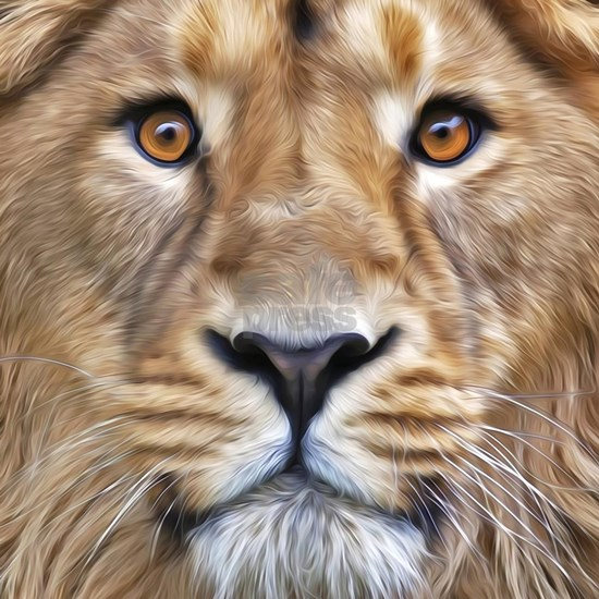 Realistic Lion Painting