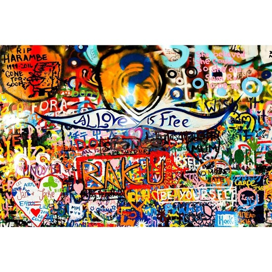 All Love is Free Graffiti