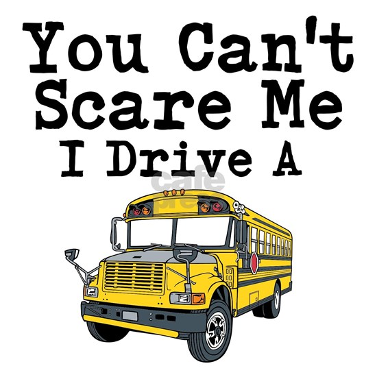 You Cant Scare me I Drive a School Bus