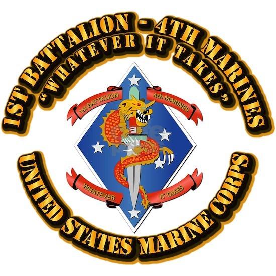 USMC - 1st Battalion - 4th Marines with Text