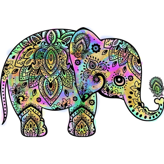 Colorful paisley Elephant