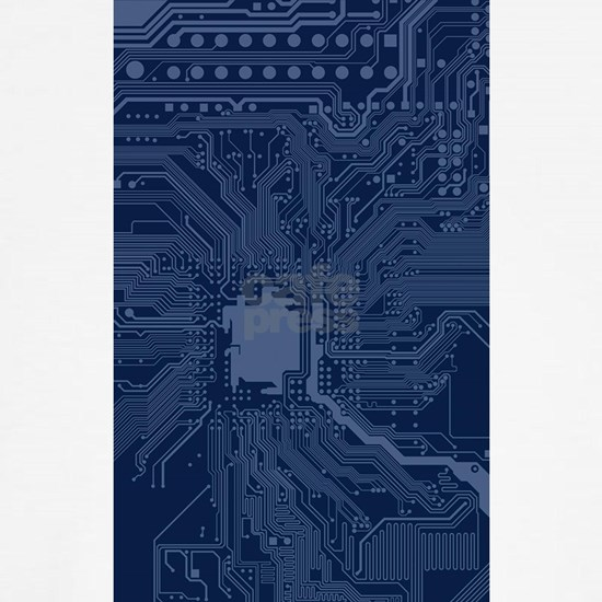Blue Geek Motherboard Circuit Pattern