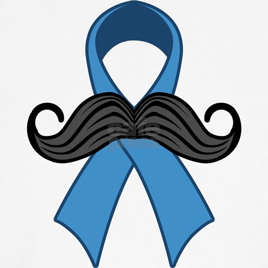 Prostate Awareness Ribbon Moustache
